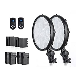 FST PH-800B Led Light Panel 800 Led Video Light Panel Dual Color Temperature 3200K~5600K Adjustable Led Studio Lighting Kit (Know our twin brothers.)
