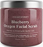 Blueberry Oxygen Facial Scrub - Loaded with Antioxidants for Facial Rejuvenation - Best Facial Scrub and Exfoliator for Skin Renewal and Anti-Aging - Expert Blend with Organic Ingredients (1 Pack)