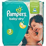 Pampers, Pannolini Baby Dry, misura 3 (4 - 9 kg), confezione mensile, 198 pz.