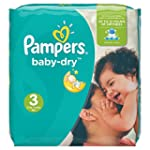 Pampers Baby Dry Nappies, Size 3 (Tot...