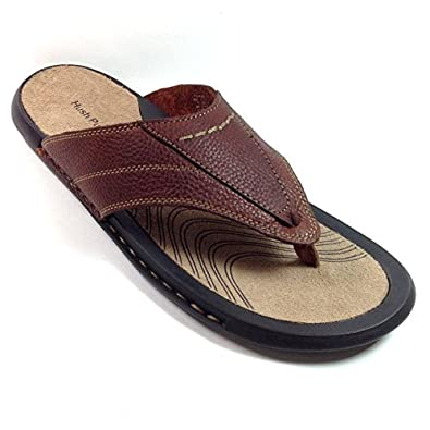 Hush Puppies Mens Venice Toe Post Thong Sandals H103369 Brown 10 UK, 45 EU
