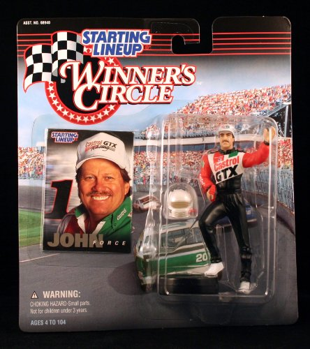 JOHN FORCE /CASTROL GTX 1998 Winner's Circle Starting Line NASCAR Series Action Figure & Exclusive Collector Trading Card - 1