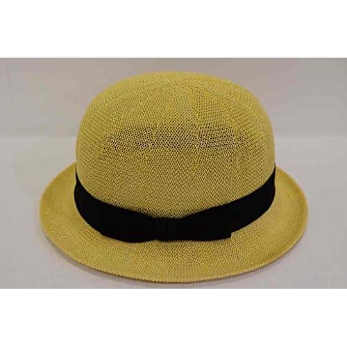 (カスターノ)CASTANO ダービーハット ボーラー 帽子 ハット 男女兼用 メンズ レディース 132060 サーモメッシュ 軽量 日除け 紫外線対策 サイズ調節 春夏 (ナチュラル)