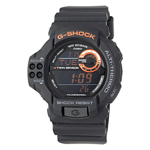 Casio Men's GDF100-1B G-Shock Twin Sensor Multi-Functional Black Resin Digital Sport Watch