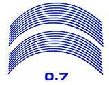 AUTOMAX izumi リム(青)0.7cm▼直線ブルー反射 幅0.7cmリムステッカー14~16インチ対応 リムライン
