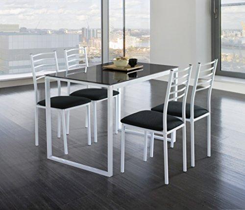 Conjunto-Noa-de-mesa-de-cocina-4-sillas-cristal-negro