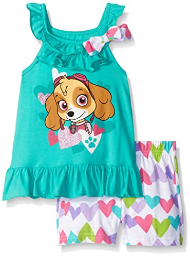 Paw Patrol  Baby Girls' 2pc Top and Short Set, Green, 18 Months