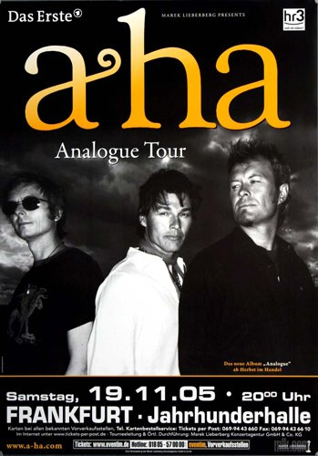 a-ha ( Morten Harket ) - Analogue 2005 - Concert Poster Plakat