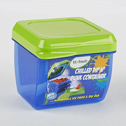 Dip N' Dunk Snack Container (GREEN) - 1