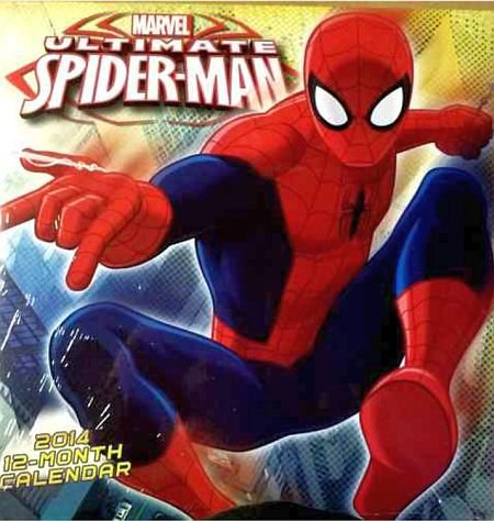 Marvel Ultimate Spiderman 2014 Wall Calendar 12-Month front-985665