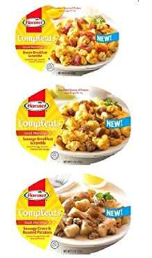 Get a perfectly balanced meal and freshness sealed for flavor with Hormel Compleats microwaveable Goodmornings breakfasts. Made with carefully selected ingredients and a precise balance of flavor, you're sure to find one that you love. Ready in just ...