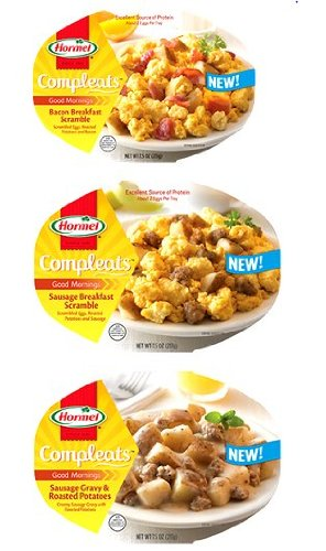 Hormel Compleats Good Mornings Breakfast Variety Pack: 2 Bowls Of Sausage Breakfast Scramble, 2 Bowls Of Bacon Breakfast Scramble And 2 Bowls Of Sausage Gravy & Roasted Potatoes (Pack Of 6)