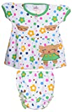 Henry kids Baby-Girls' 8-12 Months Cotton Frock with Diaper Cover (M233_8-12 Months_GREEN, Green, 8-12 Months)