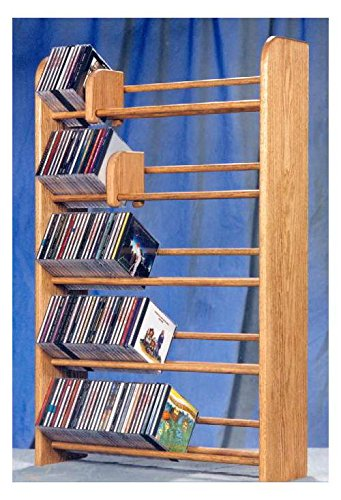 5 Row Dowel CD Rack (Clear) (Wood Dowel Rack compare prices)