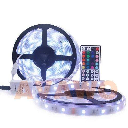rgb led strip light kit 5m roll led tape multi colored 10m smd new. Black Bedroom Furniture Sets. Home Design Ideas