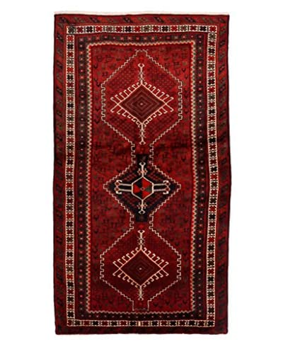 """Authentic Persian Rug, Red, 3' 11"""" x 7' 5"""""""