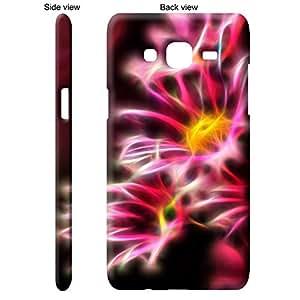 TGK Pink Digital Flowers Back Cover Case for Samsung Galaxy J5 - Multicolor
