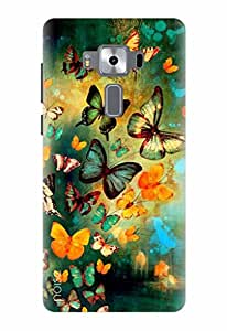 Noise Designer Printed Case / Cover for Asus Zenfone 3 Deluxe ZS570KL with 5.7 Inch screen size/ Nature / Butterflies Design