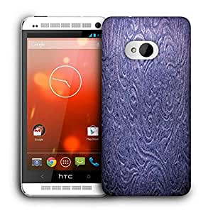 Snoogg Blue Abstract Printed Protective Phone Back Case Cover For HTC One M7