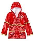 Little Boys Red Fireman Rain Coat Sizes 4/5 and 6/7