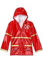 Boy's Red Fireman Rain Coat
