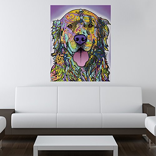 "Silence Is Golden Dog Wall Sticker Decal - Animal Pop Art By Dean Russo (31.4""W X 40""H) front-115115"