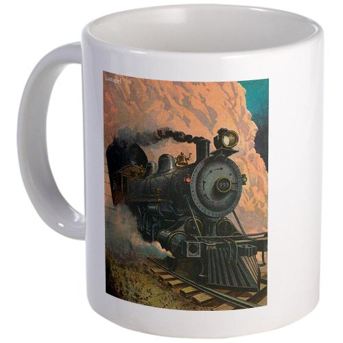 Cafepress Antique Train Victorian Steam Engine Vintage Mug - Standard