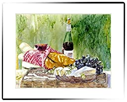 Rainbow Card Company Large Matted Print - French Picnic