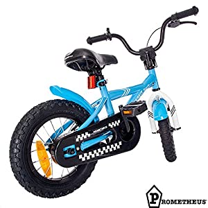 "Kinderfahrrad 14"" (14 Zoll) Prometheus Kinder-Fahrrad - Farbe Blau mit Rücktrittbremse, inkl. Stützräder by Fahrbereit Bicycle®"