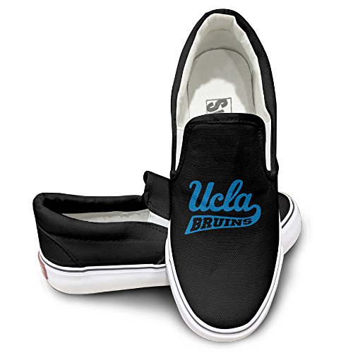 MGTER66 UCLA Bruins Logo Street Dance Slip On Shoes Unisex Style Color Black Size 39