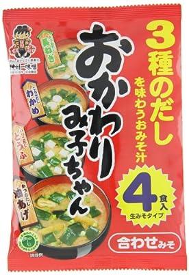 Shinshuichi Miso-Suppenpaste, dunkel, Instant, 4 Portionen, 3er Pack (3 x 64,4 g Packung) von Shinshuichi auf Gewürze Shop