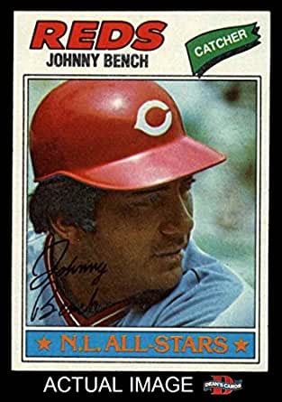 1977 Topps 70 Johnny Bench Cincinnati Reds Baseball Card Dean 39 S Cards 8 Nm Mt