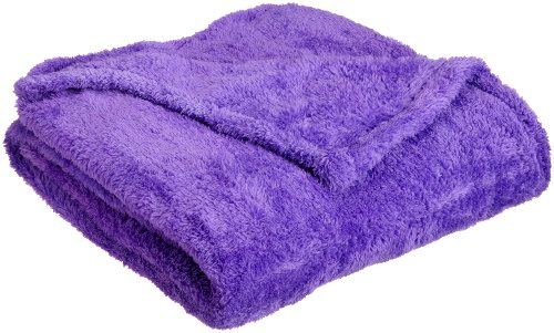 Northpoint Everyone Ultra Plush Throw, Purple front-984985
