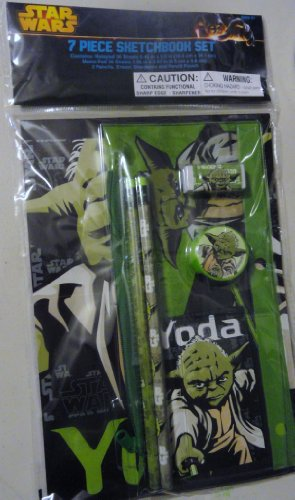Star Wars Yoda 7-Piece Sketchbook Set