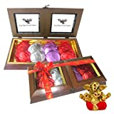 Chocholik Belgium Gifts - Sparcle Rocks Collection With Small Ganesha Idol - Diwali Gifts