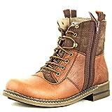 Lee Fog Mens Javan Genuine Leather High Anklet Brown Genuine Leather Casual Boots UK 9