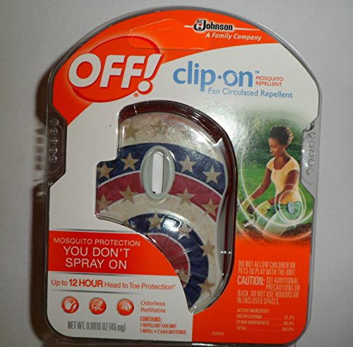 Off! Clip On Mosquito Repellent American Flag Design