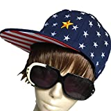 DUSTSTROKE ( ダストストローク ) 星 ドット 総柄 ツバ 裏 赤 白 ストライプ スナップバック キャップ ブラック ネイビー ( 2色 から 選べる )ユニセックス メンズ レディース ストリート カジュアル アメカジ ロック ヒップホップ ダンス 帽子 (ネイビー)