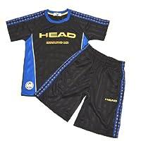 ジャージ キッズ ボーイズ HEAD(ヘッド) 2014SS Tシャツ&ハーフパンツ 14371ts-16(ブラック)