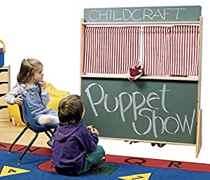 Childcraft play store and puppet theatre 45 1 for Child craft play kitchen