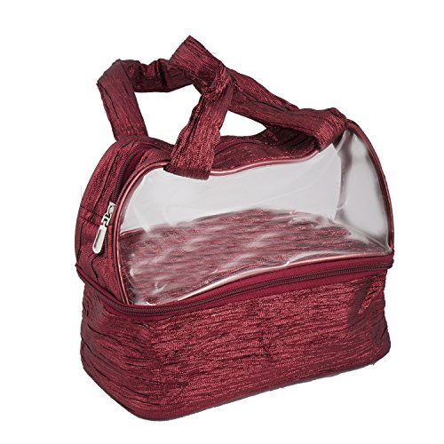 Bagathon India Bagathon India Transparent Nylon Vanity Bag [Maroon]