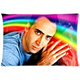 """Customize Nicolas Cage Custom Zippered Pillowcase Standard Size 20""""x30"""" Two Sides"""