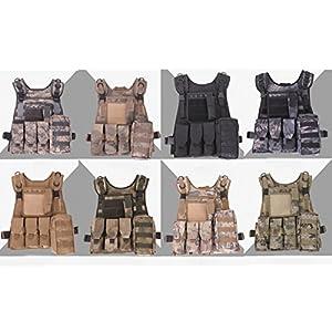 UQ Gilet de combat Militaire Tactique SWAT MOLLE Airsoft CS Game Cosplay Entraînement Formation Chasse Combat