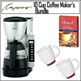 Capresso CM200 10-cup Programmable Coffee Maker With Bistro Wide Body Coffe ....