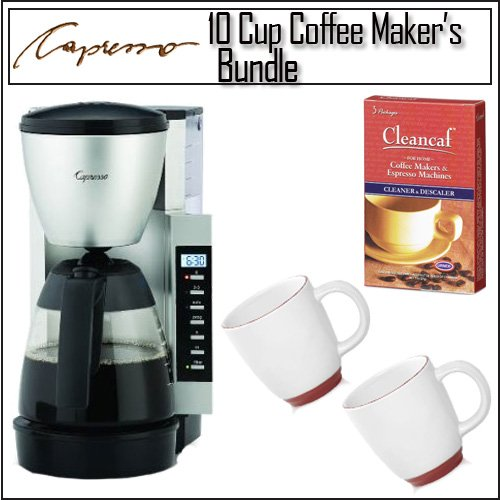 Cheap Capresso CM200 10-cup Programmable Coffee Maker With Bistro Wide Body Coffee Cup Including ...