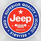 12 x 12 Vintage Style Iconic Reliable Jeep 4WD Embossed Tin Sign