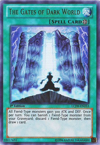 Yu-Gi-Oh! - The Gates of Dark World (LCJW-EN253) - Legendary Collection 4: Joey's World - 1st Edition - Ultra Rare (Dark World compare prices)