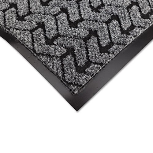 Crown Products - Crown - Tire-Track Scraper Mat, Needlepunch Polypropylene/Vinyl,48 x 72,Gray - Sold As 1 Each - Features