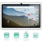 NeuTab 7'' Quad Core Android 5.1 Lollipop 1GB RAM 8GB Nand Flash Tablet PC,, Wide View IPS Display 1024x600 Bluetooth Dual Camera, 1 year warranty FCC Certified (White)