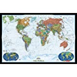 """World Decorator Map (Two Sizes Available) Map Type: Enlarged and Tubed (48""""H x 73""""W)"""